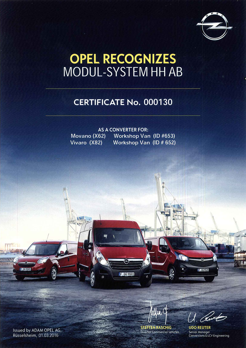 Modul-System certified by Opel